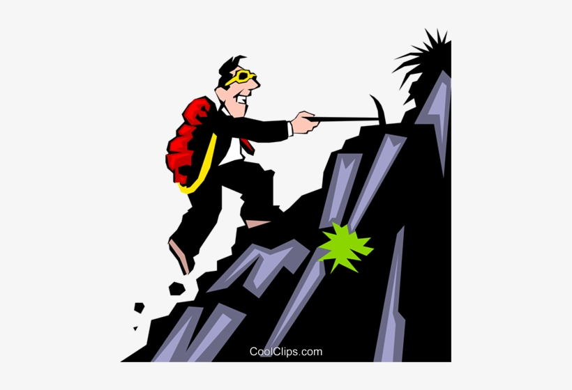 Mountain Climbing Theme Royalty Free Vector Clip Art.