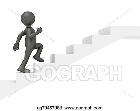 Little Man Climbing Clipart & Free Clip Art Images #21170.