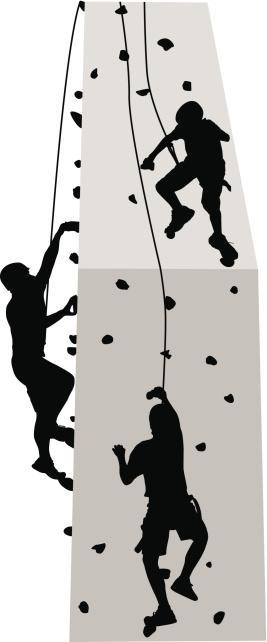 Rock Climbing Wall Clip Art, Vector Image Illustrations.