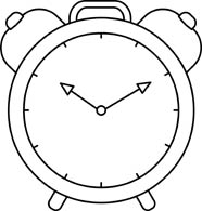 Free Black and White Objects Outline Clipart.