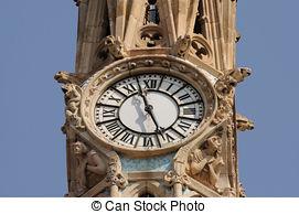 Stock Photos of The clock tower at the Santa Barbara County.