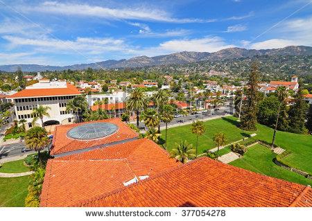 Santa Barbara Downtown Stock Images, Royalty.