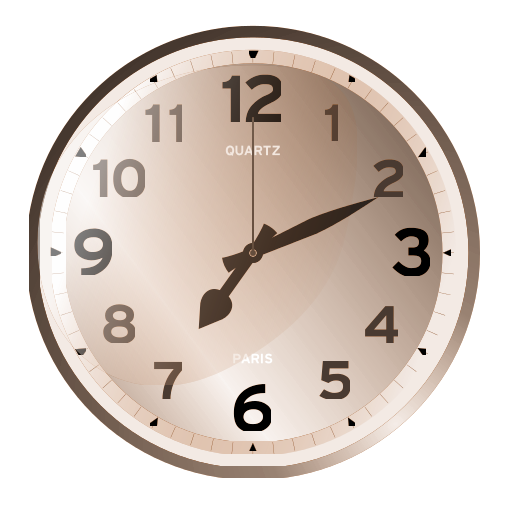 Time clock clipart image.