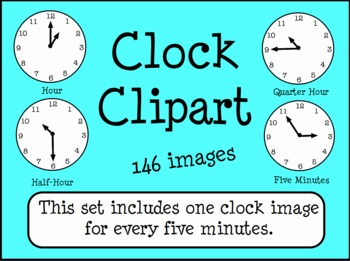 Clocks Telling Time Clip Art 5 Minute by Workaholic NBCT.