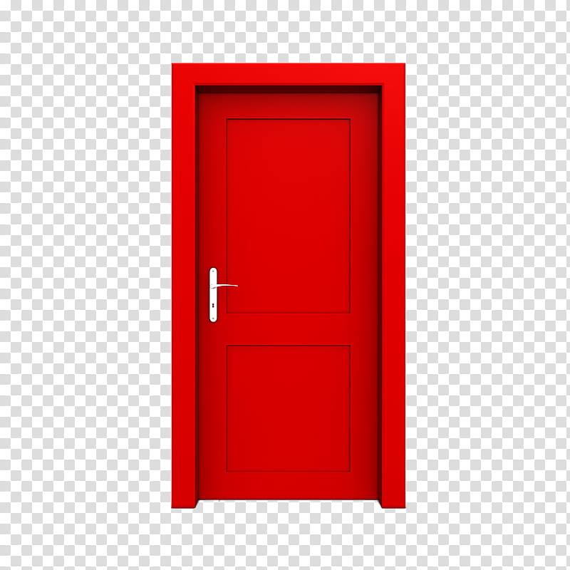 Doors, closed rectangular red.