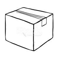 Closed Cardboard Paper Box stock vectors.