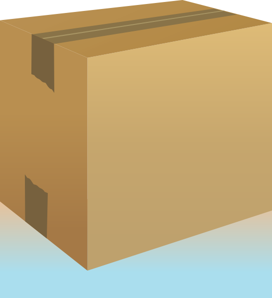 Closed Cardboard Box.