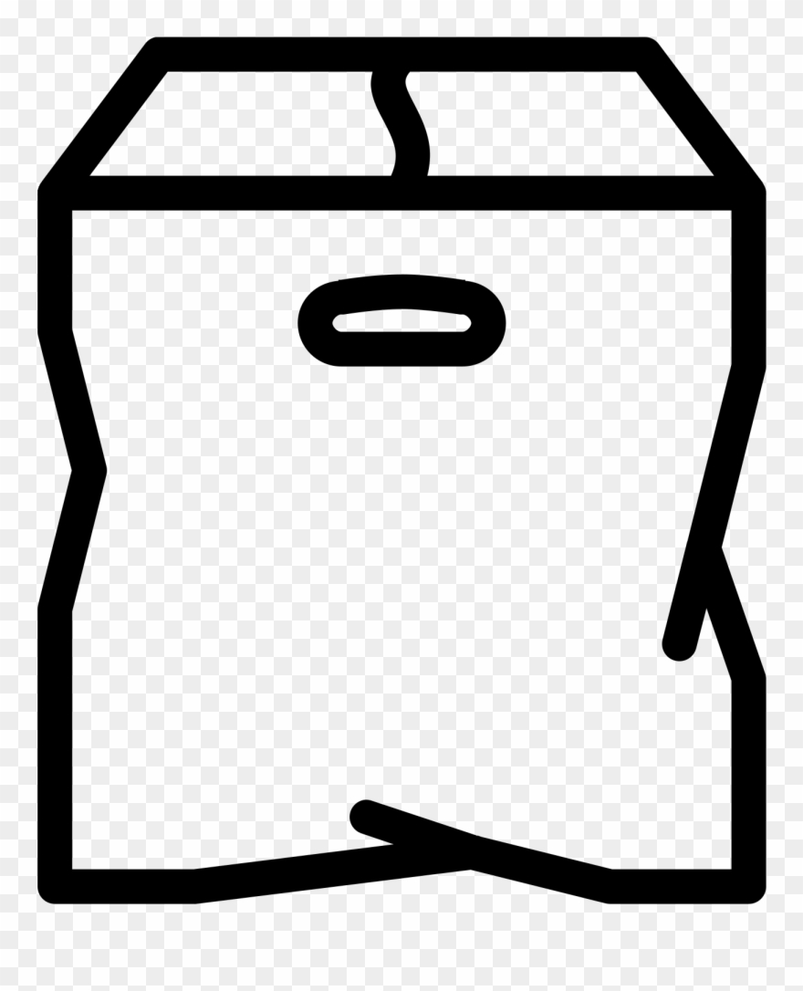 This Icon Is Depicting A Closed Cardboard Box With Clipart (#2654213.