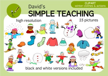 WINTER CLIPART: CLOTHES & ACTIONS.