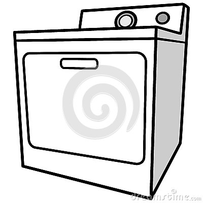 Clothes Dryer Stock Vector.