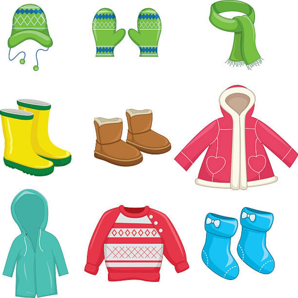 Clipart Of Winter Clothes.