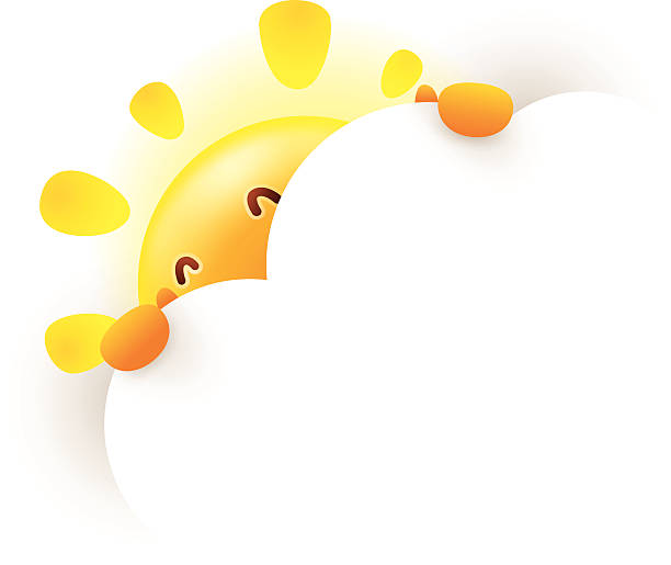 Sun Behind Clouds Illustrations, Royalty.