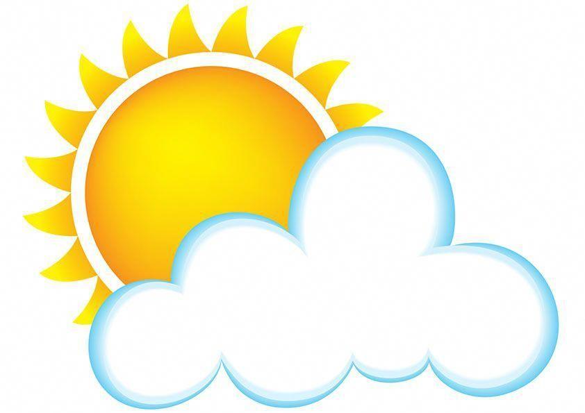 Sun And Cloud Cartoon Clipart.
