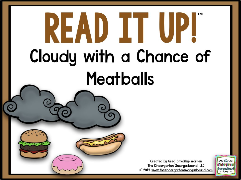 Read It Up! Cloudy with a Chance of Meatballs.