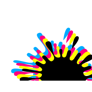 Ink Splash With Multi Drops Cmyk clipart, cliparts of Ink.