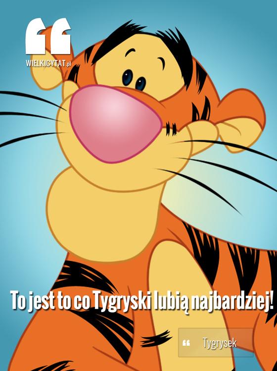 To jest to co Tygryski lubią najbardziej!