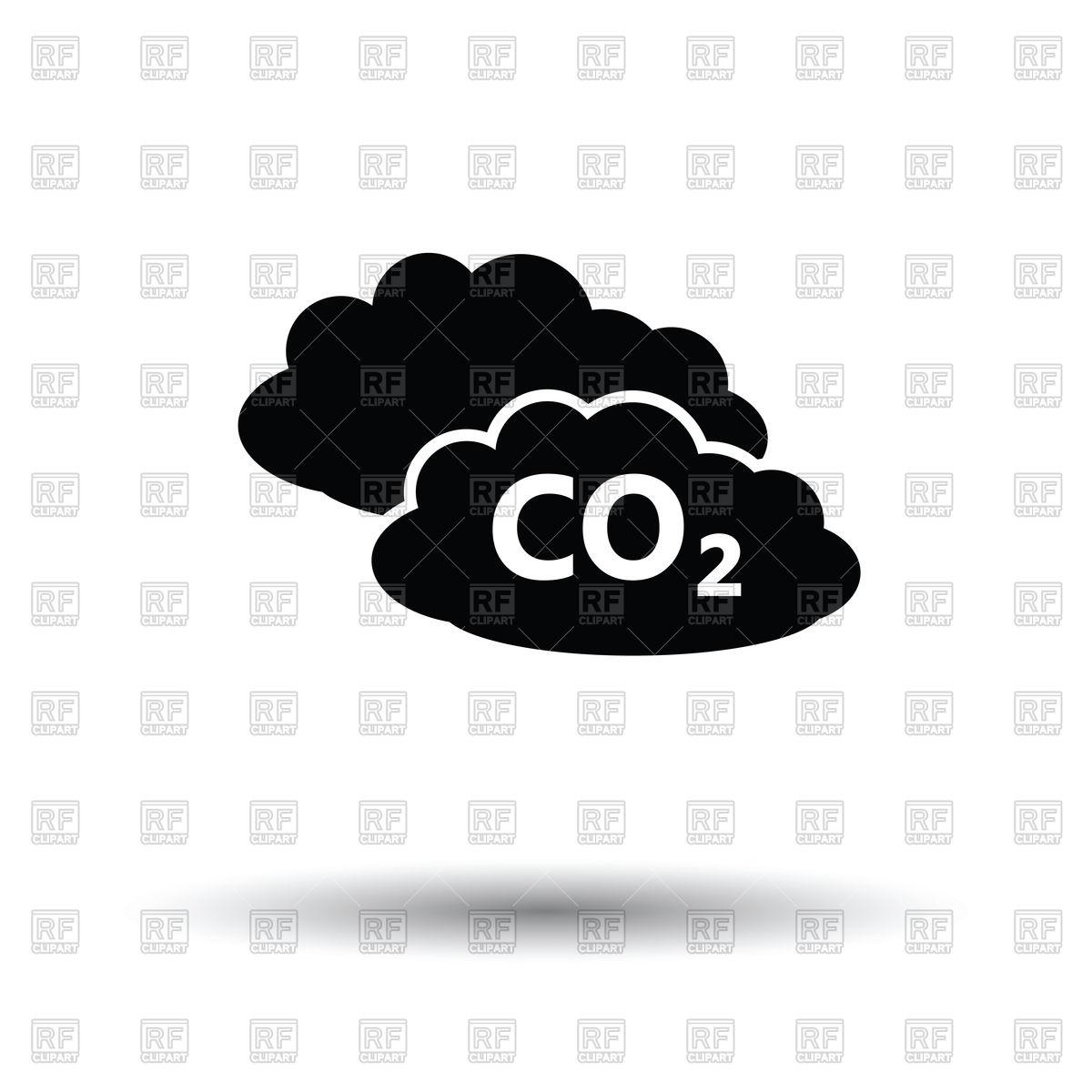 Carbon dioxide coud.