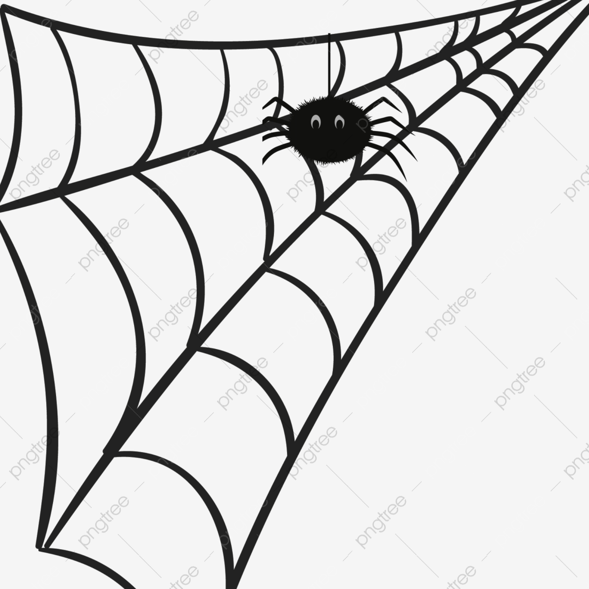 Spider Web Pattern Cartoon Pictures Hand Painted Cartoon Cobweb.