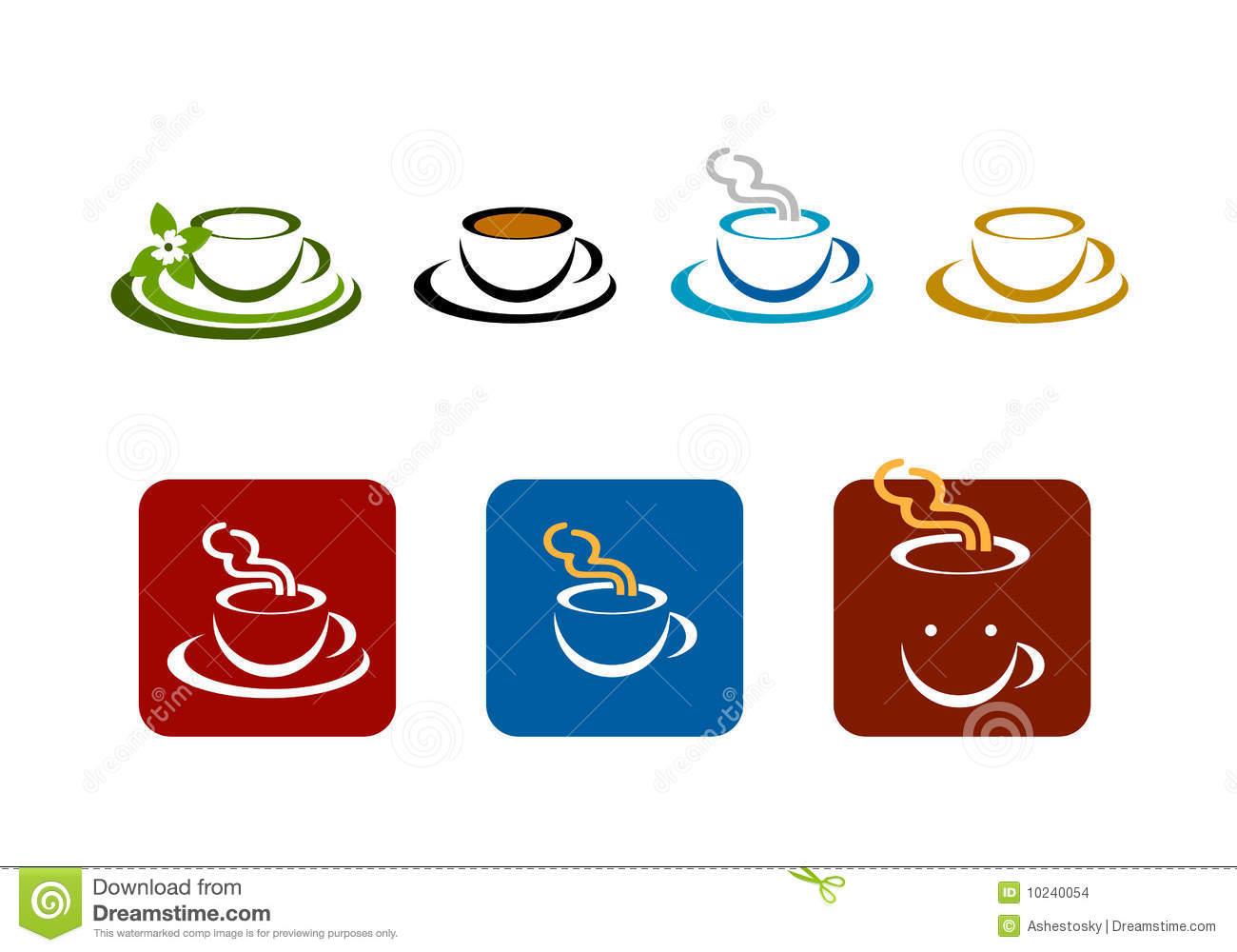 Coffee Bar Shop Vector Brands Logo Stock Vector.