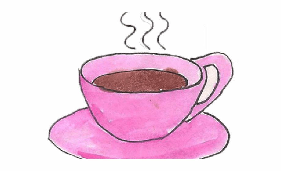 Tea Clipart Pink Coffee Cup.