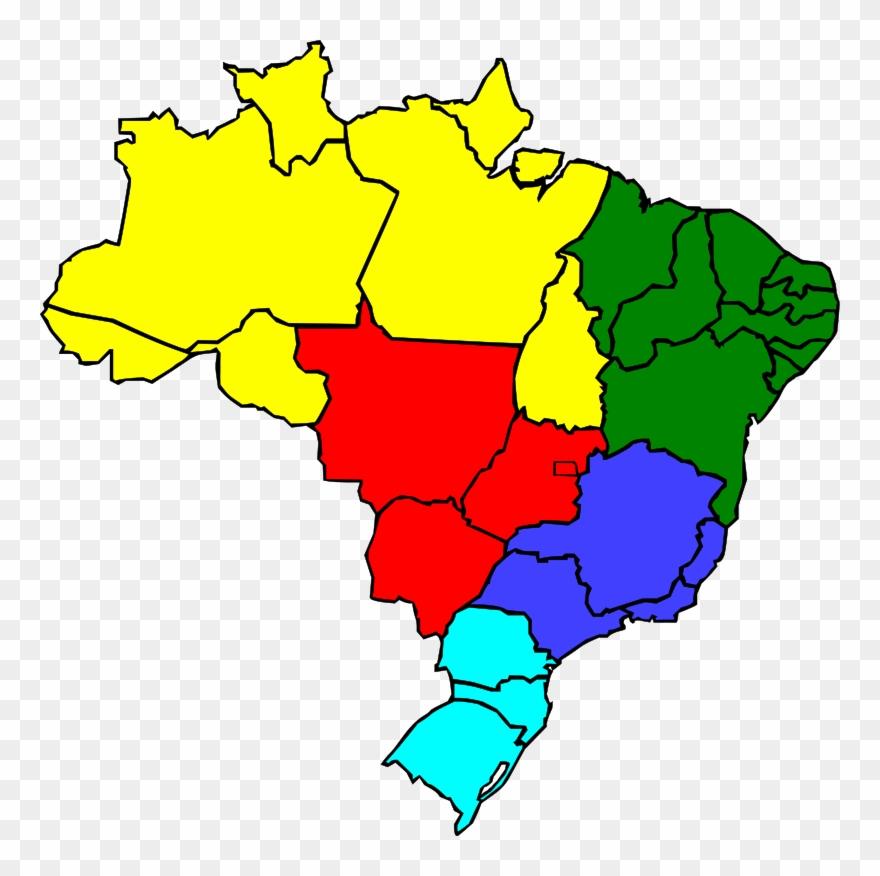 Flag Of Brazil Vector Map.