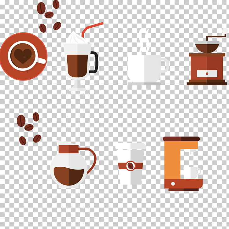 Coffee cup Cafe, Coffee production element PNG clipart.