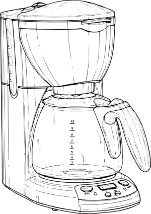 Coffee Maker clip art Clipart Graphic.