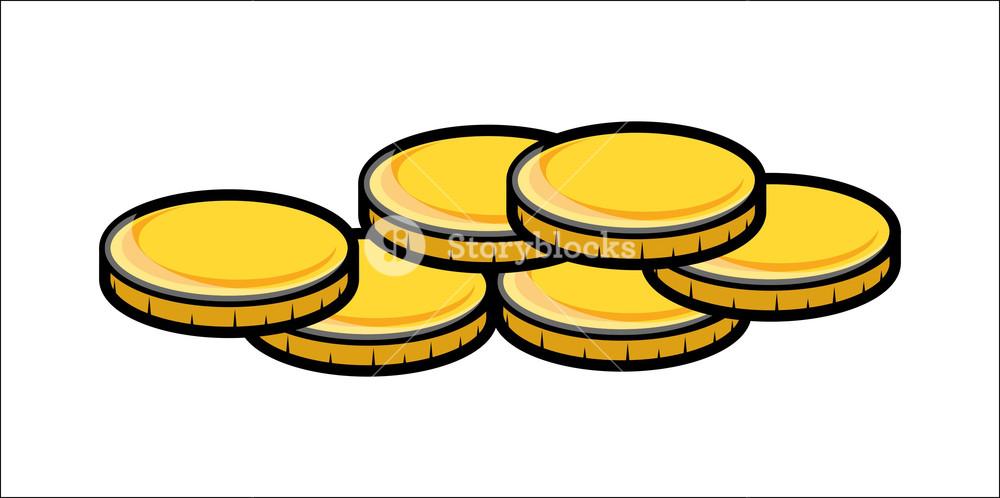 Cartoon Gold Coins Clipart.