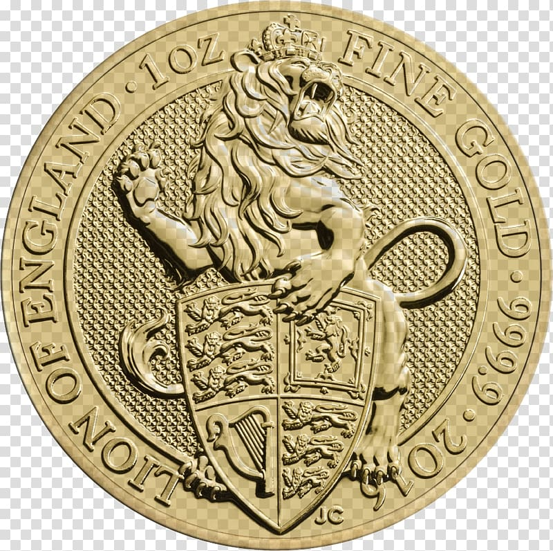 Royal Mint The Queen\'s Beasts Bullion coin Gold, gold coins.
