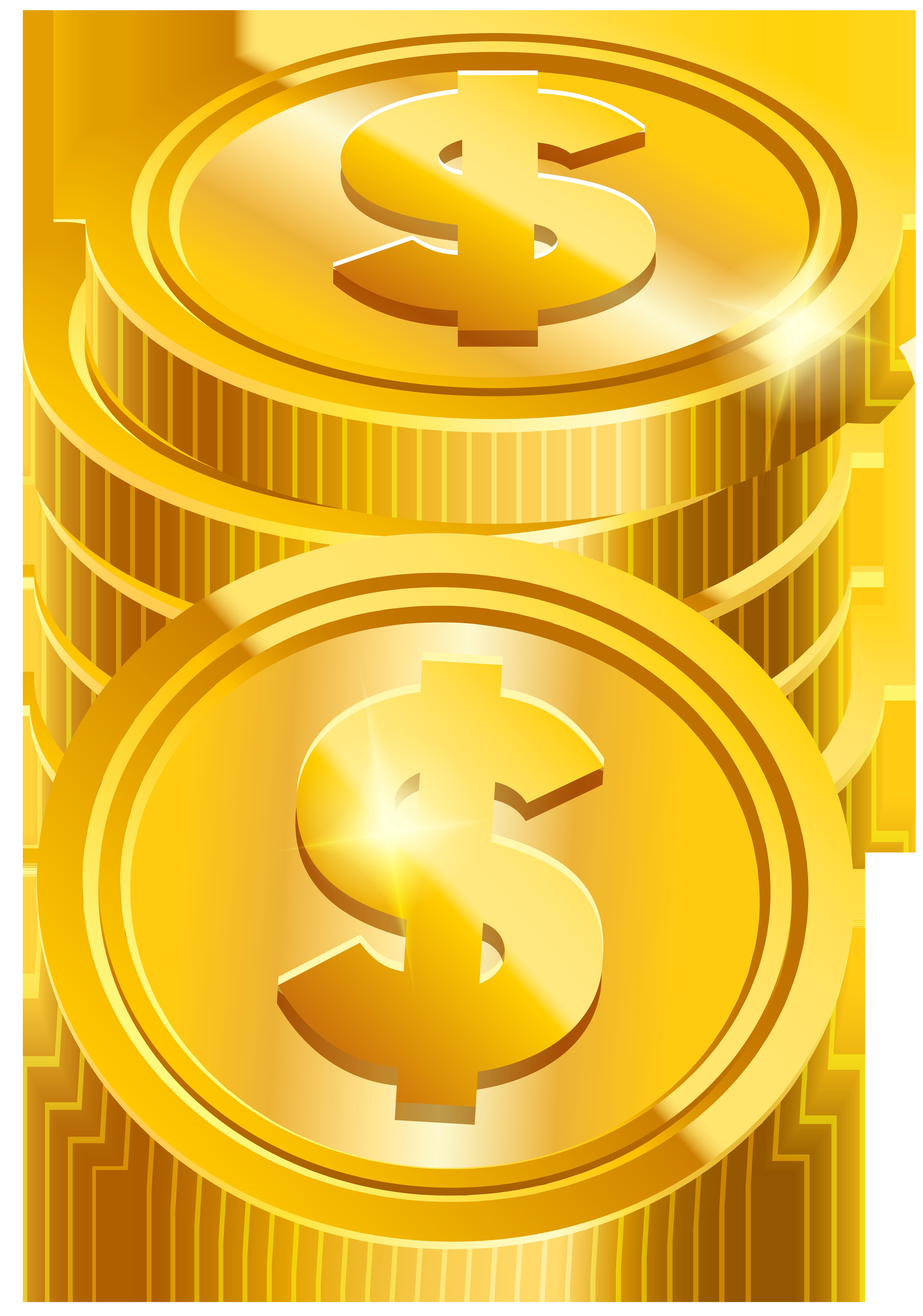 Coins Transparent PNG Clip Art Image.