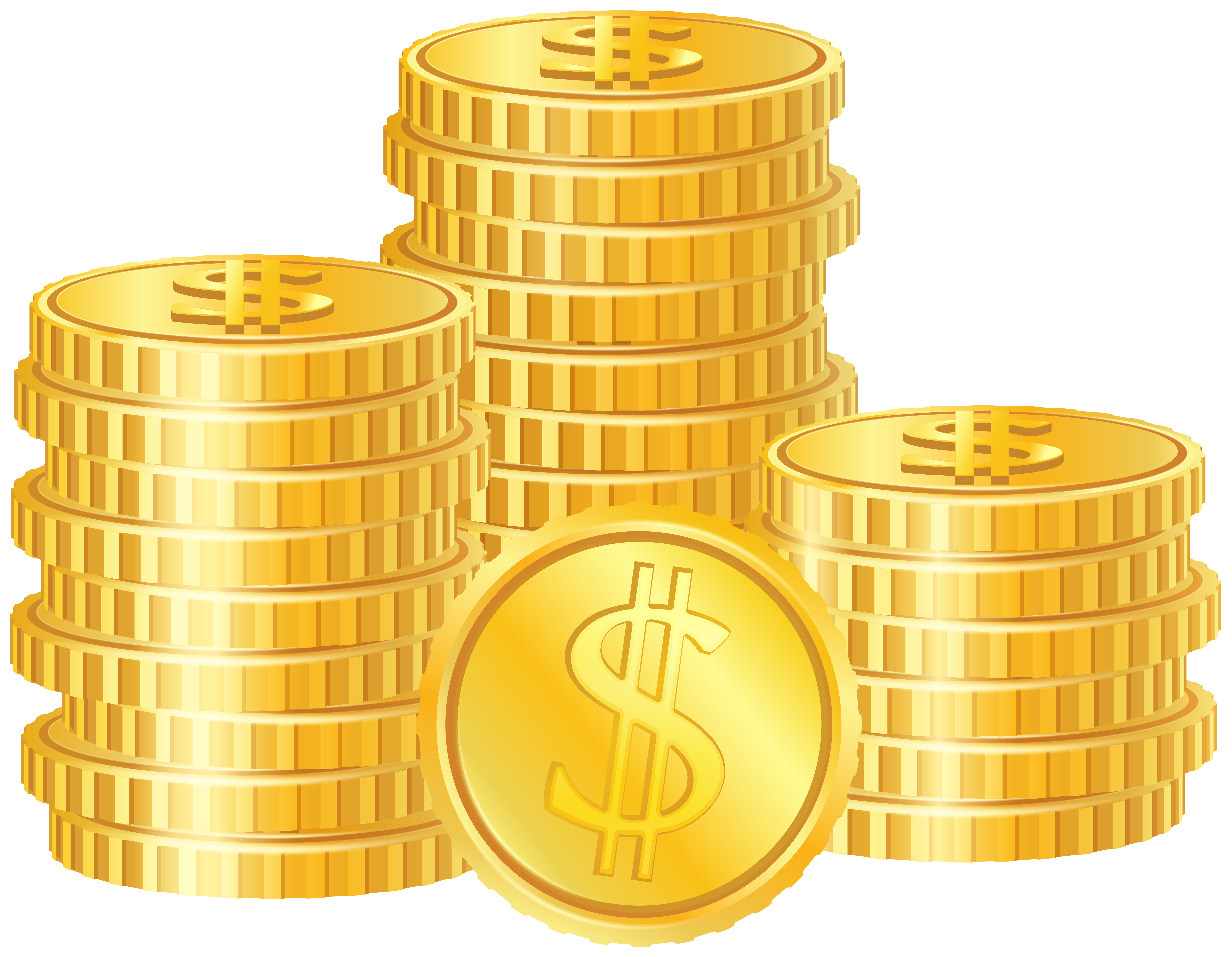 Golden Coins PNG Clipart Image.