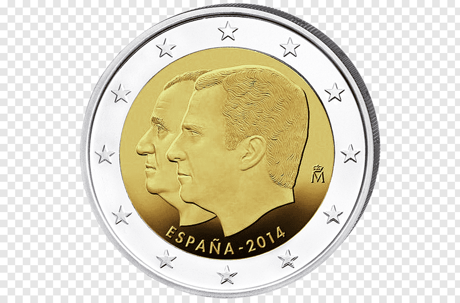 Gold Coin, Spain, 2 Euro Coin, Euro Coins, Face Value, 1.
