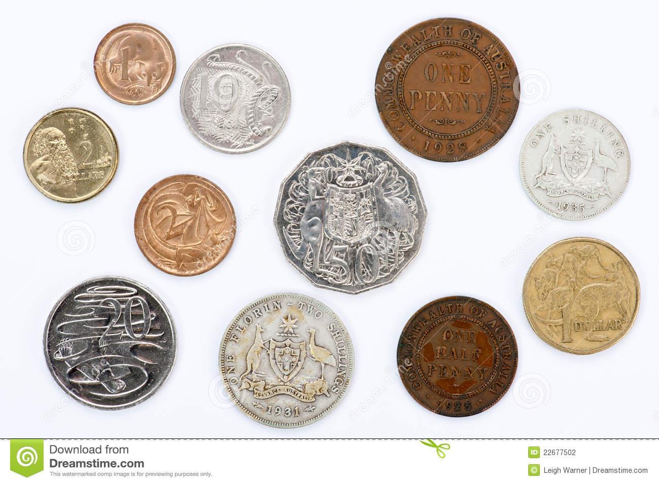 Australian Coins Clipart.