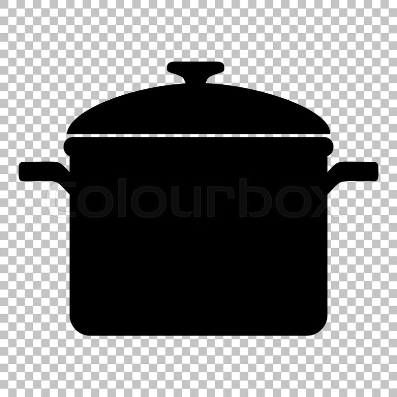 Download Free png Black And White Cok Pot Fire Clipart No.