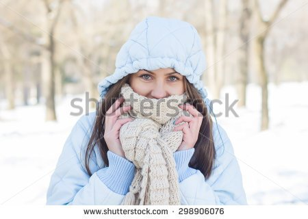 Clipart Cold Weather Old Woman.