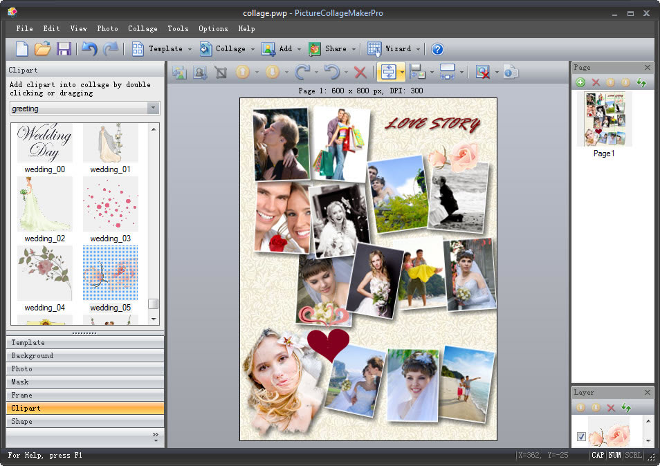 Picture Collage Maker for Mac & Win.
