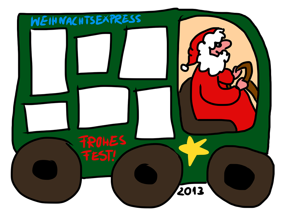 Christmas Express Template Frame Photo Collage.