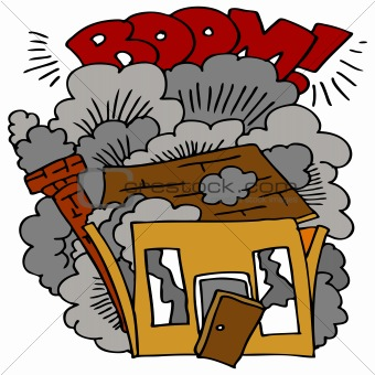 House clipart collapse, House collapse Transparent FREE for.