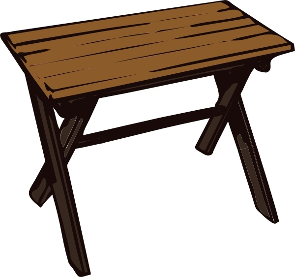 Collapsible Wooden Table clip art Free vector in Open office.