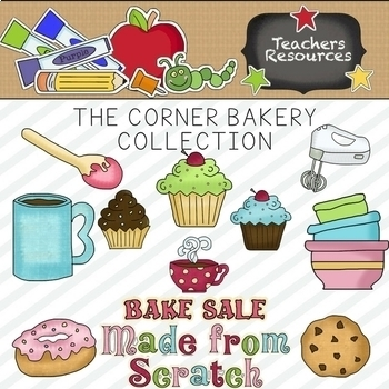 The Corner Bakery Clipart Collection.