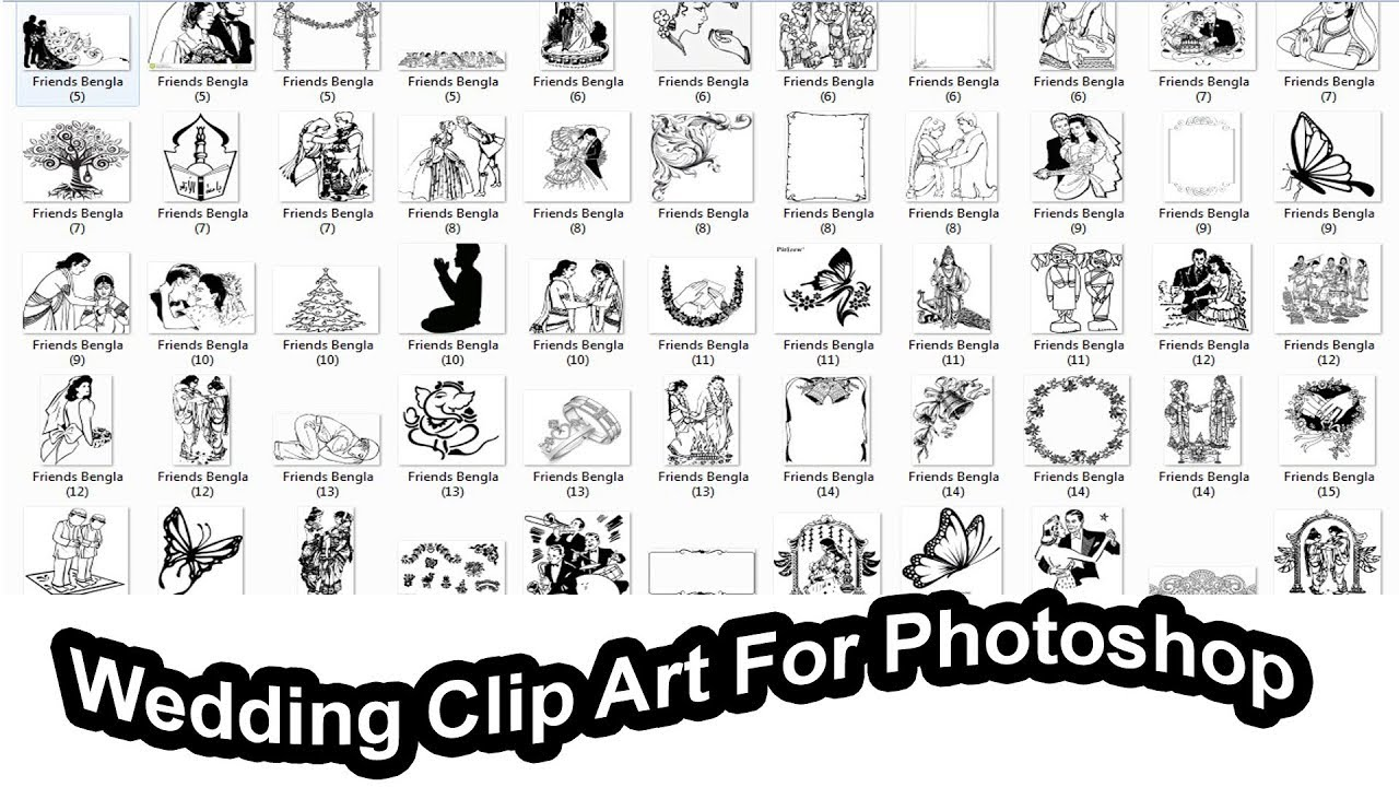 Wedding Clip Art Collection for Photoshop Free Download.