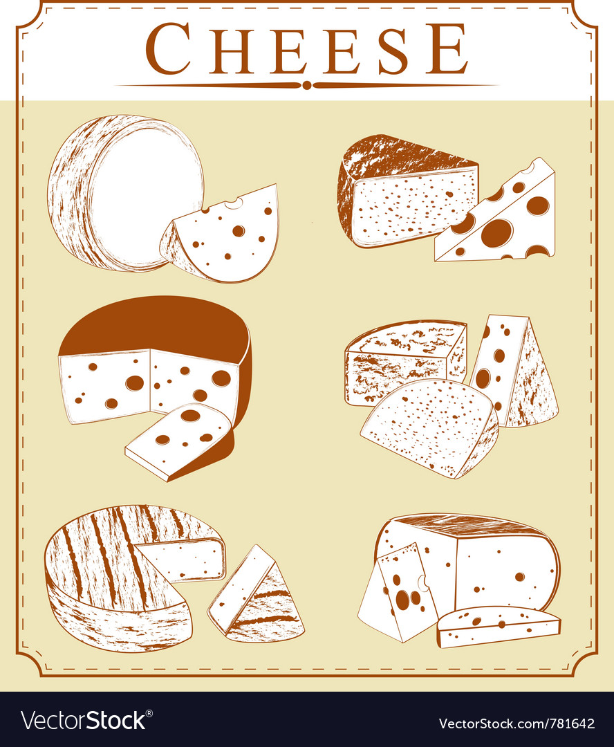 Clipart collection of cheese.