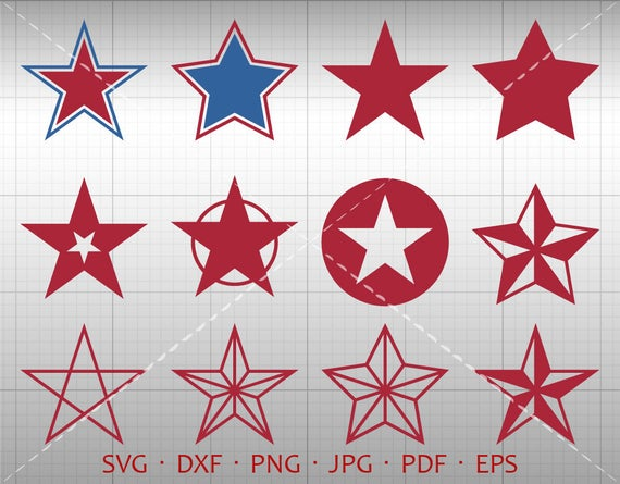 Star Svg Star Clipart Collection Silhouette Cricut Cut Files (svg, dxf,  eps, png, jpg, pdf).