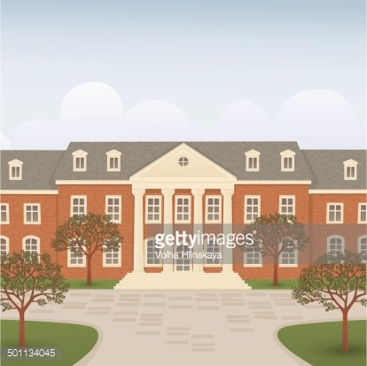 College building Clipart Image.