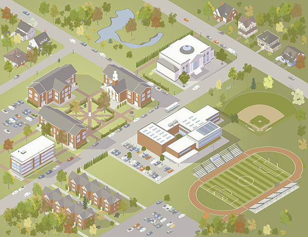 College Campus Illustration » Clipart Station.