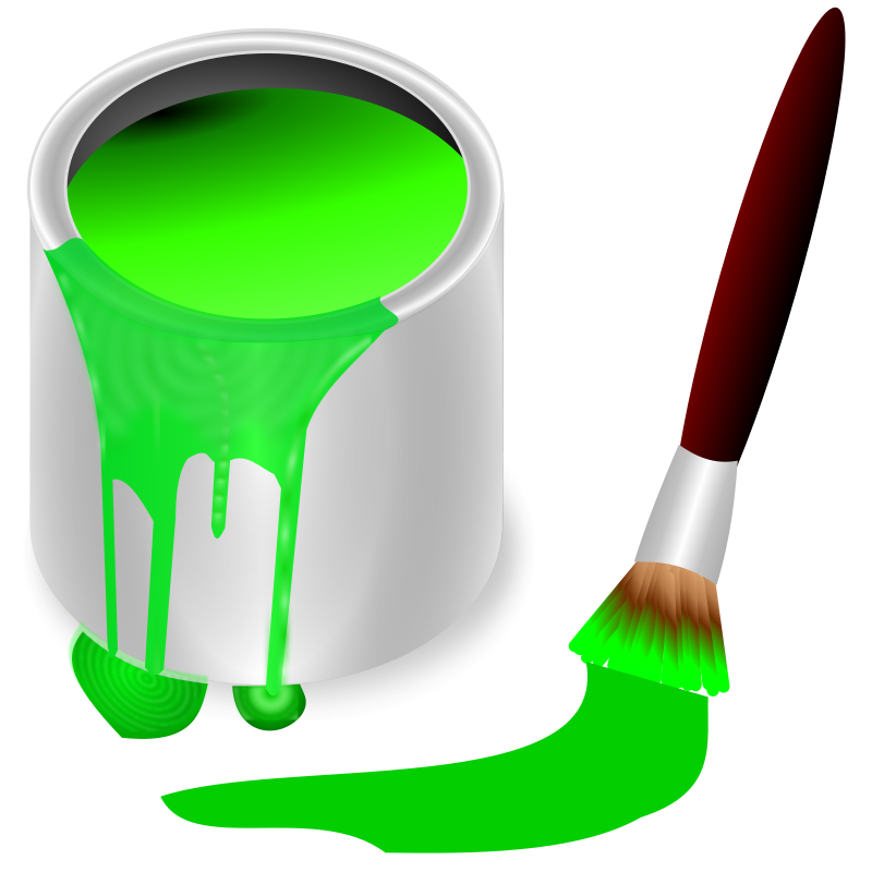 Free Clipart: Color bucket green.