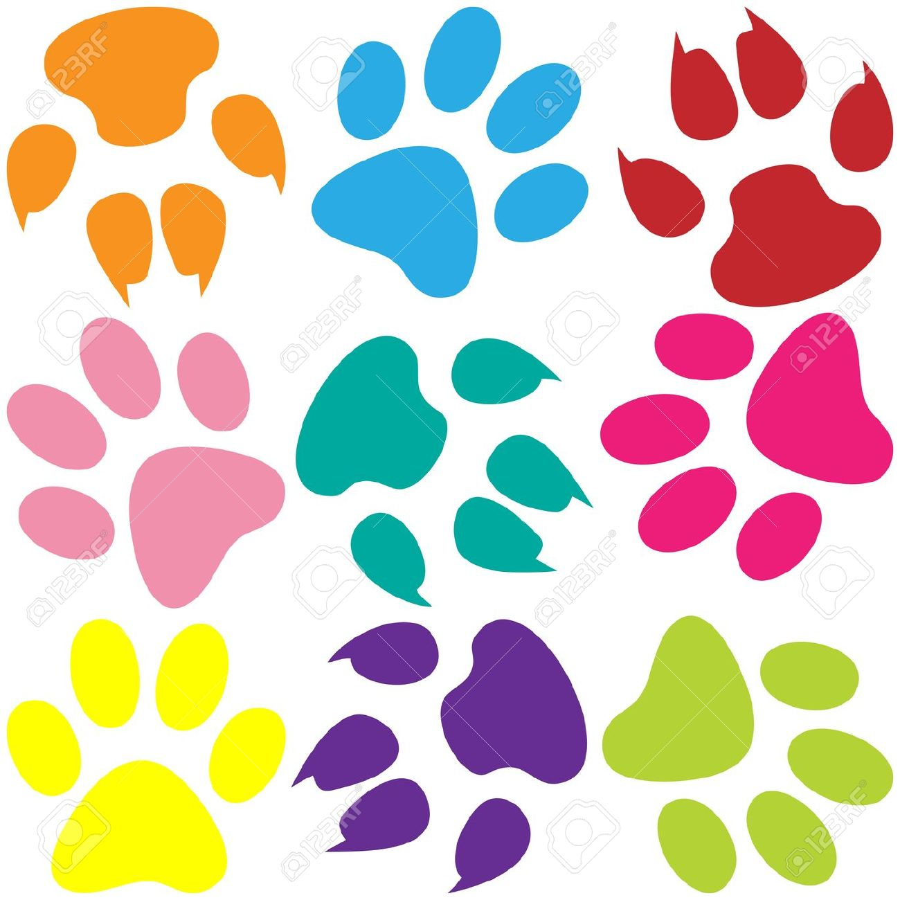 Paw Prints Stock Photos & Pictures. Royalty Free Paw Prints Images.