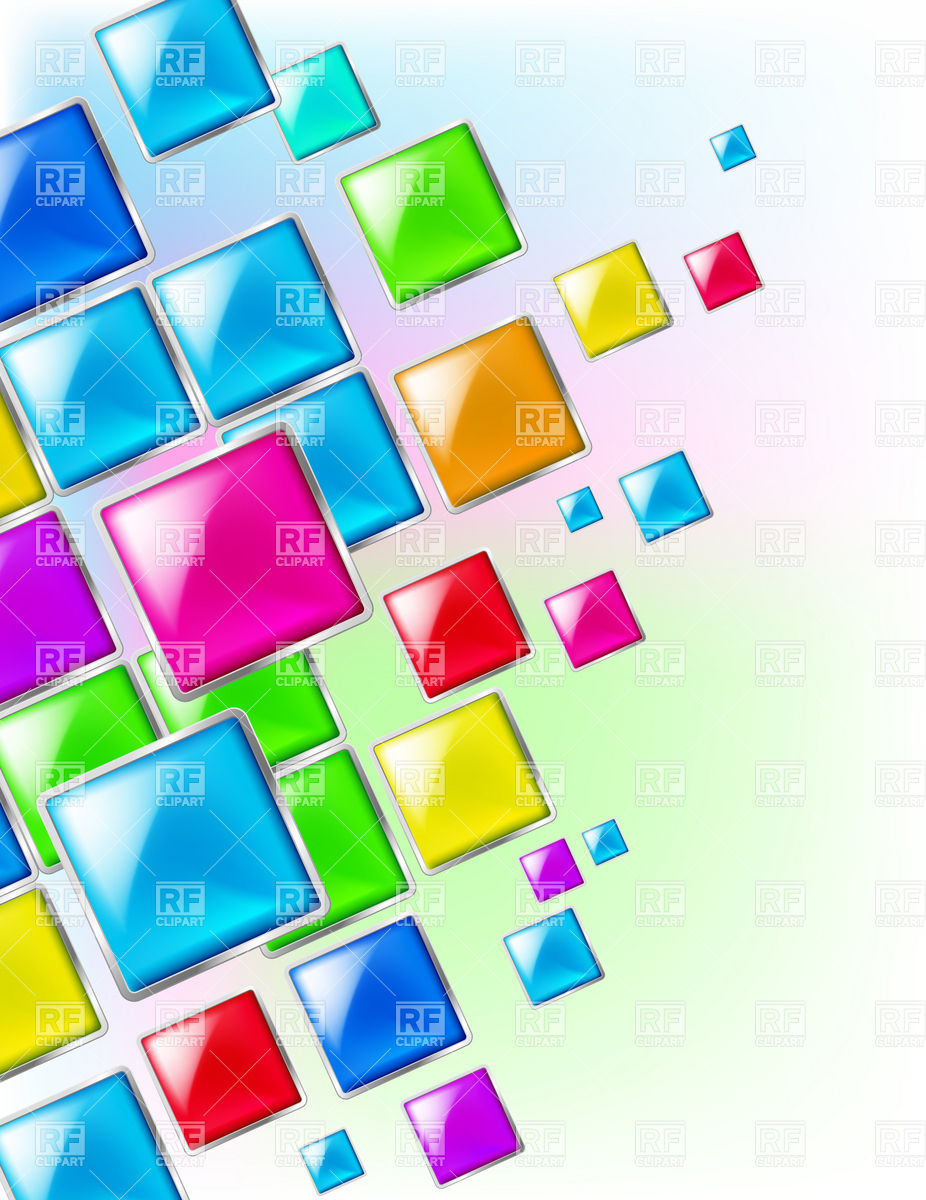 Color square abstract background Vector Image #6591.