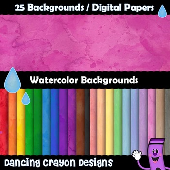 Digital Papers: Water Color Backgrounds.