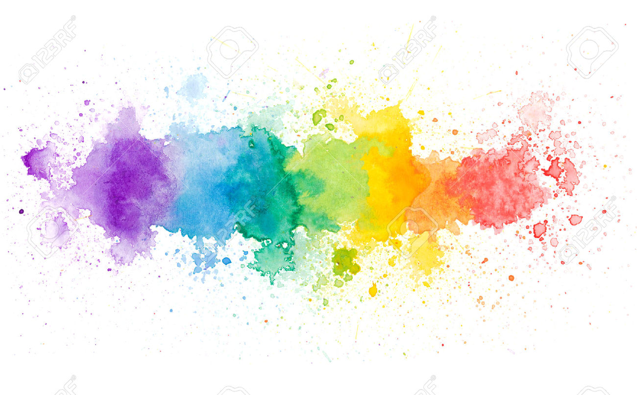 Color Painting Watercolor Splash Background Color Clipart: Clipart Color Backgrounds